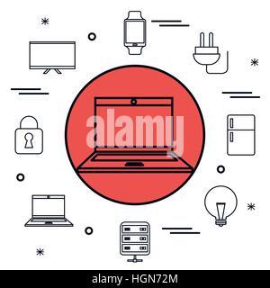Internet der Dinge Icons Vektor-Illustration-design - Stockfoto