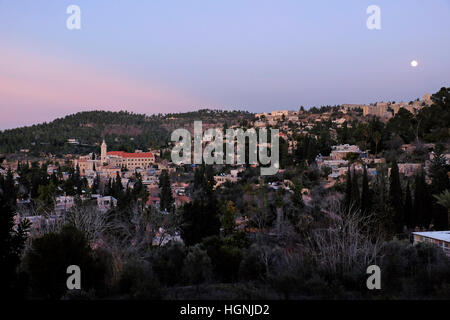 Blick auf Ein Karem oder Ain kerem ein altes Dorf und jetzt einen jüdischen Viertel im Südwesten von Jerusalem, - Stockfoto