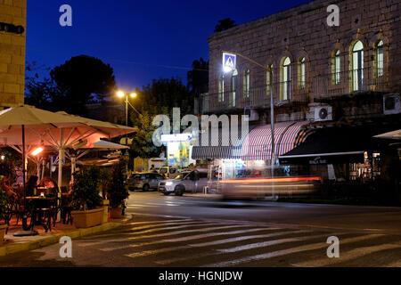 Das Zentrum von Ein Karem oder Ain Kerem ein altes Dorf, und jetzt ein jüdisches Viertel in Süd-West Jerusalem, - Stockfoto