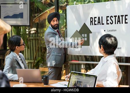 Immobilien-Hypotheken-Darlehen-Konzept - Stockfoto