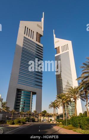 Emirates Towers, Dubai, Vereinigte Arabische Emirate - Stockfoto