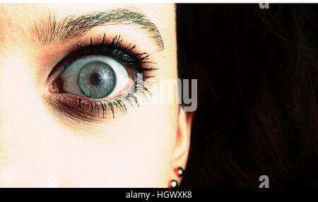 Auge-Nahaufnahme - Stockfoto