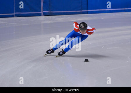 Turin, Italien. 12. Januar 2017. Alica Porubská in Aktion während der nationalen Slowakei Workouts für ISU European - Stockfoto