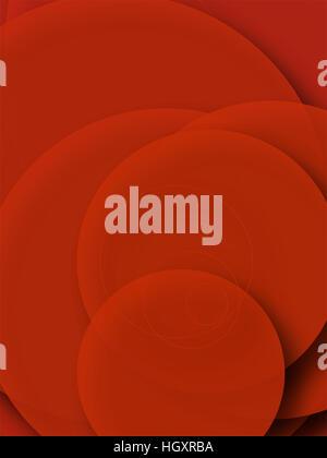 Abstrakt rot Hintergrund voller Kreisformen. - Stockfoto