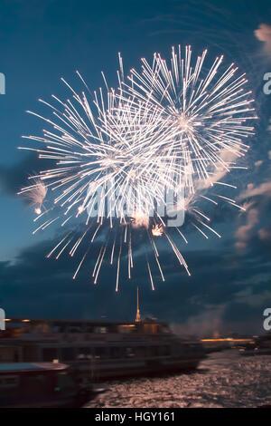 schönen Gruß über die Newa in der Stadt St. Petersburg, Russland - Stockfoto