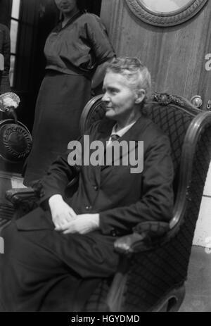 Marie Curie, Polen geborenen französischen Physiker, Porträt während Reise nach USA Geldbeschaffung für Radium Forschung, - Stockfoto