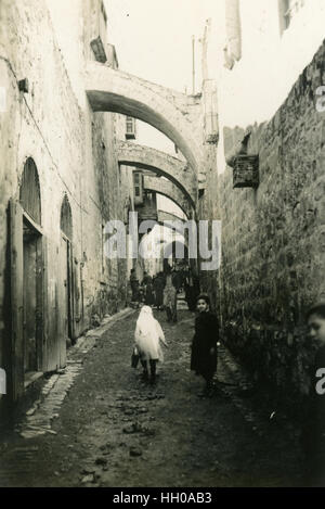 Wandern die Via Dolorosa und die Stationen des Kreuzes, Jerusalem, Palästina, Bethlehem, Palästina, Israel, Oktober - Stockfoto