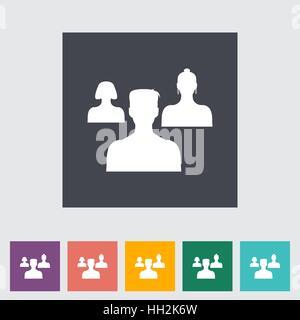 Zu Freunden hinzufügen. Einzelne flache Symbol. Vektor-Illustration. - Stockfoto