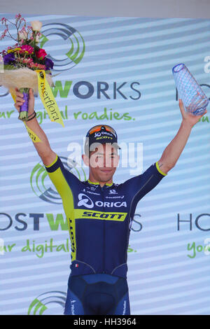 Adelaide, Australien. 17. Januar 2017.  Hostworks Stufe 1 Unley in Lyndoch, Santos Tour Down Under. Caleb Ewan (Orica - Stockfoto