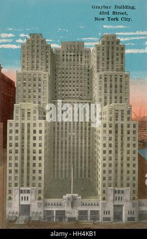 """Das Graybar Gebäude an der 43. Straße in New York City, USA. Es hieß """"Graybar"""" zu Ehren der Gründer der Firma, Elisha - Stockfoto"""