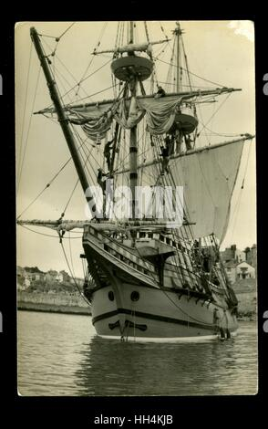 Mayflower II Segelschiff, eine Nachbildung des Originals von den Pilgervätern verwendet, um Amerika im 17. Jahrhundert - Stockfoto