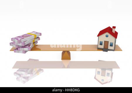 ... Neuer Indische Währung Mit Hausmodell   3D Gerenderten Bild   Stockfoto