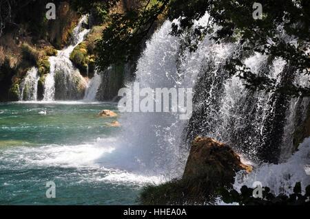 Krka Wasserfälle - Stockfoto