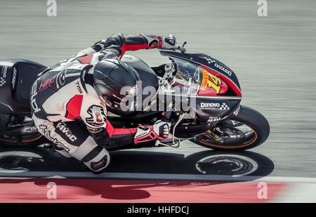 Jack Keen, Reiten ein Triumph 600cc in der Superstock 600 Praxis in Brands Hatch. - Stockfoto