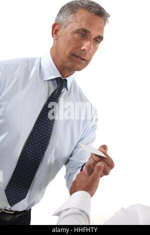 präsentieren Sie, zeigen Sie, zeigen Sie, Präsentation, Männlich, männliche, leere, europäischen, - Stockfoto