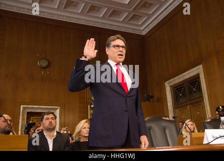 Washington, USA. 19 Jan, 2017. ehemalige Texas Gouverneur Rick Perry, Präsident elect Wahl von Donald Trump als - Stockfoto