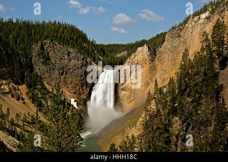 WY02096-00... WYOMING - Lower Falls im Grand Canyon des Yellowstone River im Yellowstone National Park. - Stockfoto