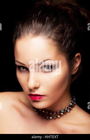 Frau, schön, beauteously, schön, einzeln, isoliert, Lifestyle Mode, - Stockfoto