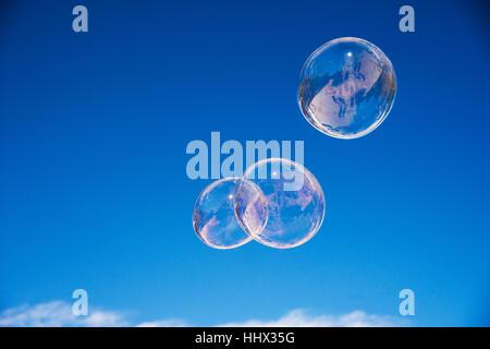 Schwebende Bubbles Stockfoto