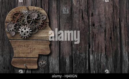 Funktion des Gehirns, Psychologie, Speicher oder geistige Aktivität Konzept - Stockfoto