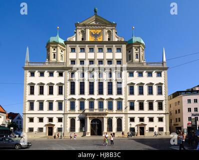 Rathaus, Augsburg, Schwaben, Bayern, Deutschland - Stockfoto