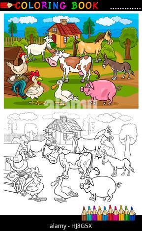 Gemütlich Färbung Von Nutztieren Bilder - Beispiel Business ...
