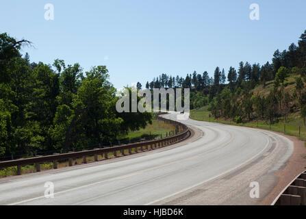 Autobahn 24, in der Nähe von Hulett, Wyoming, USA - Stockfoto