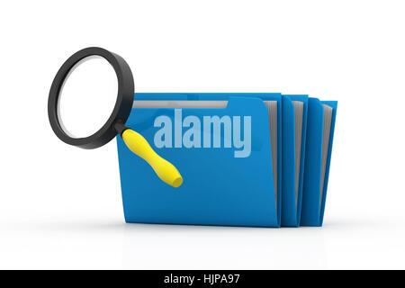 Mithilfe von Suchordnern oder Archiv - Stockfoto