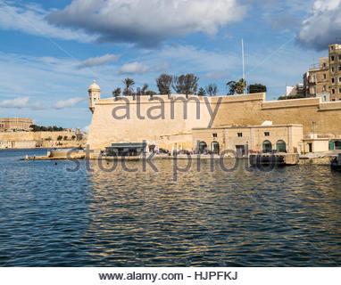 St Michaels Fort in den Grand Harbour in Valletta auf Malta. - Stockfoto