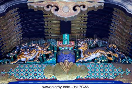 Detail der Tosho-gu Schrein in Nikko, Japan - Stockfoto