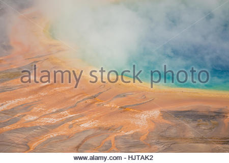 Detail der thermischen Farben Grand Bildobjekte Springs im Yellowstone-Nationalpark - Stockfoto