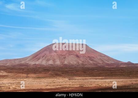 Montana Roja, Corralejo, Fuerteventura, Kanarische Inseln, Spanien - Stockfoto