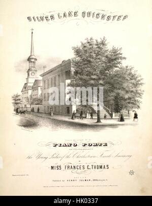 """Noten-Cover-Bild des Liedes """"Silver Lake Quickstep"""", mit ursprünglichen Autorschaft Notizen lesen """"komponiert und - Stockfoto"""