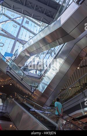 Parkview grün, Öko-Einkaufszentrum, entworfen vom Architekten Winston Shu der integrierten Design Associates. Das - Stockfoto