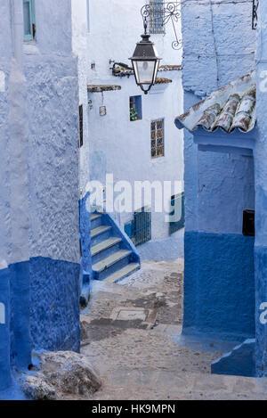Die blaue Stadt von Nordmarokko Chefchaouen - Stockfoto