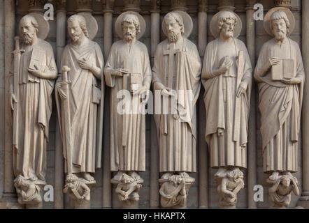 Apostel Paulus, St. James das große, St. Thomas, St. Philip, St. Judas Thaddäus und St Matthew der Evangelist (von - Stockfoto