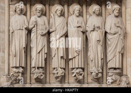Apostel Bartholomäus, St. Simon der Zelot, St James weniger, St. Andrew, St. Johannes der Evangelist und St. Peter - Stockfoto