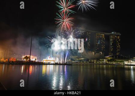 Singapur. 27. Januar 2017 begrüßt die Stadt Singapur das chinesische ...