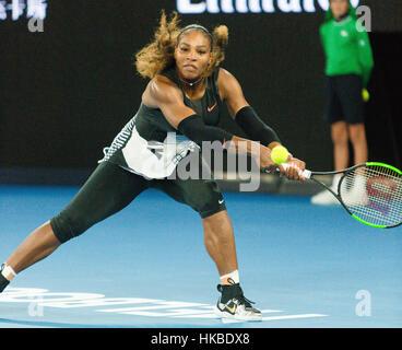 Melbourne, Australien. 28. Januar 2017. Serena Williams aus den USA während der 2017 Australian Open Damen Finale - Stockfoto