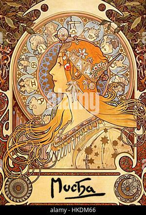 Alphonse Mucha Zodiac - Stockfoto
