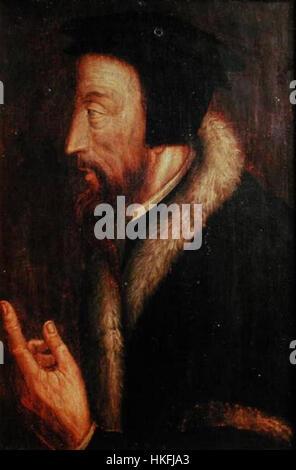 Porträt John Calvin (umgedreht) - Stockfoto