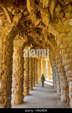 Park Güell von Antoni Gaudi, Barcelona, Katalonien, Spanien - Stockfoto