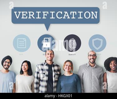 Erlaubnis Network Security System Berechtigungskonzept - Stockfoto
