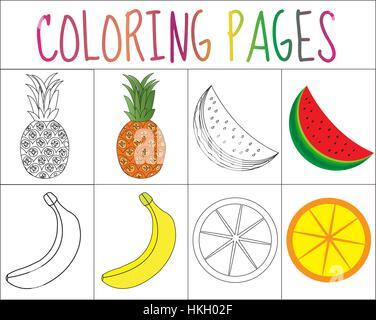 Berühmt Färbung Seite Obst Bilder - Ideen färben - blsbooks.com