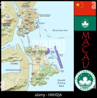 Administrative Abteilungen von Macau - Stockfoto