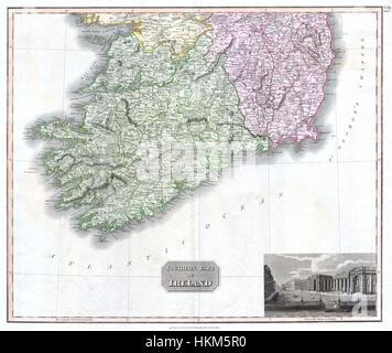 1814 Thomson Karte Von Sud Irland Stockfoto Bild 49968202 Alamy