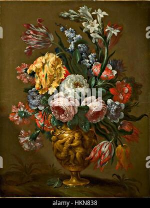 Bartolomeo Bimbi - Blumen in einer Vase dekoriert - Stockfoto