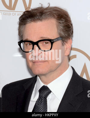 Colin Firth kommt bei der 28. Annual Hersteller Guild Awards im The Beverly Hilton Hotel in Beverly Hills, Kalifornien - Stockfoto