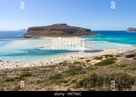 Balos Beach. Der Westküste der Halbinsel Gramvousa. Die Insel Kreta. Griechenland. - Stockfoto