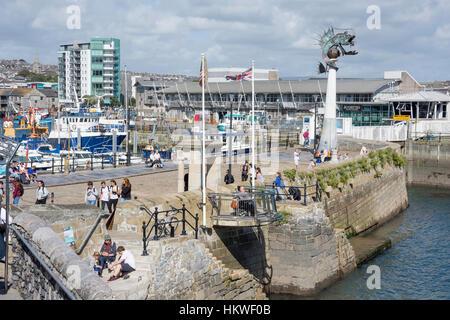 Mayflower Schritte, Barbican, Plymouth, Devon, England, Vereinigtes Königreich - Stockfoto
